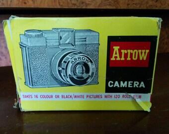Arrow Camera plastic toy camera 1960s mod boho