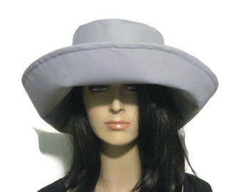 Gray Wide Brim Womens Hat, Sun Hat, Fall Hat