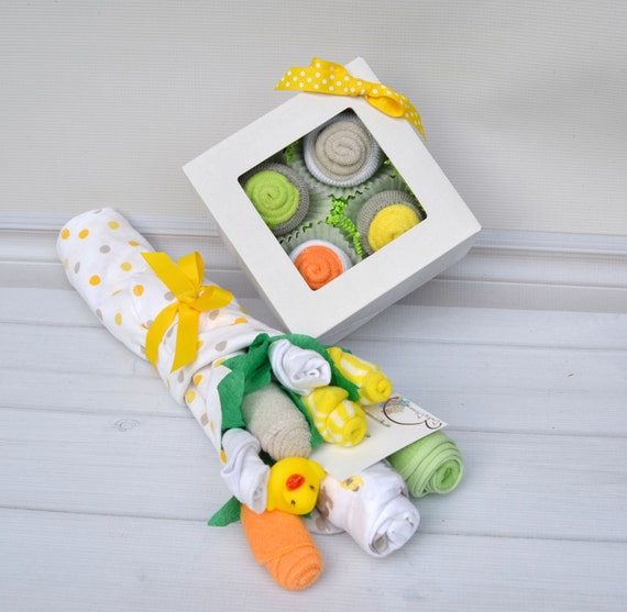 Baby Gifts For Gender Neutral : Gender neutral baby gift set basket for by