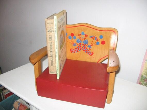 12 Off Vintage Irmi Booster Seat Circus Retro Kitchen Red