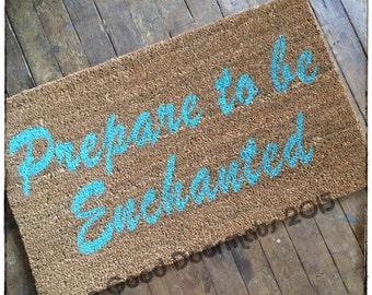 zen Prepare to be Enchanted™ doormat welcome gifts
