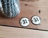 Metal number signs -31 or 51
