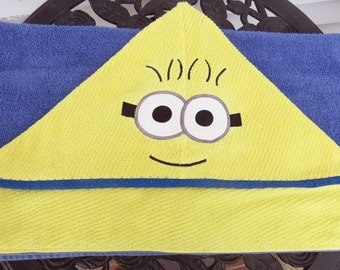 Hooded towel for beach or bath personalized