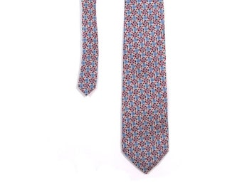 BTS SALE Vintage 80s Preppy Christian Dior Green Blue and Red Paisley Print Necktie