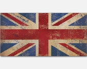 Union Jack Union Flag United Kingdom Flag 1.5 inch Stretched Canvas Wall Art  Ready To Hang