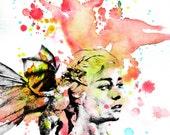 Game of Thrones Daenerys Targaryen Poster Print From Original Watercolor Painting - 8 X 10 in. Print Game of Thrones Print