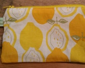 Lemon Zipper Clutch Coin Purse Fits Big Smart Phones