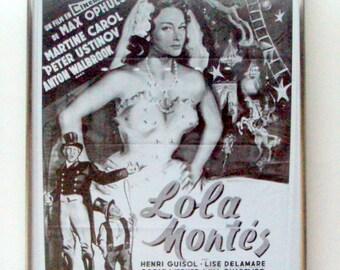 Vintage Movie Ephemera,Lola Monte's French Film Advertisement,Martine Carol Max Ophuls,1955,Oscar Werner,Circus Master,Profile Entertainment
