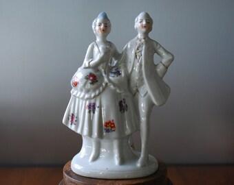 Vintage Renaissance Courting Couple -  Figurine - JAPAN - 1960's - collectible
