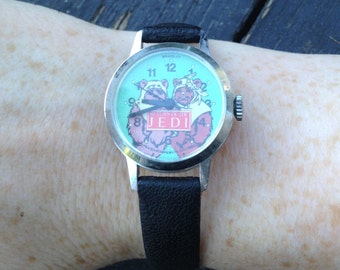 Vintage Ewok Leather Watch Collectible