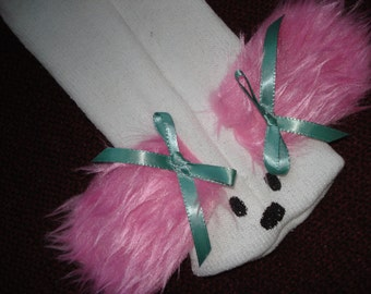 Pink eared Dog Puppy Sock Puppet from Puppets by Margie