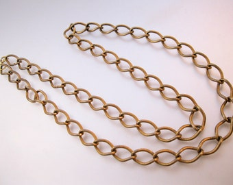 """Vintage 30"""" Gold Tone Chain Necklace Costume Jewelry Jewellery FREE SHIPPING"""