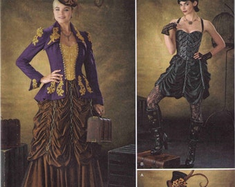 Steampunk costume pattern, Adult Halloween costume pattern, Simplicity 1248 size 6-12