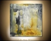 Original Large Abstract Modern Contemporary Acrylic painting amber Gray Abstract art 30x30 raw with an edge acrylic by Sky Whitman