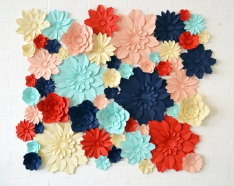 Extra large set paper flowers for wedding decoration