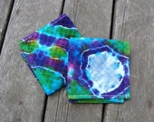 Moon Galaxy Wash Rags (2) Tie Dye Washcloth Set