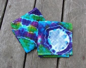 Moon Galaxy Wash Rags (2) Tie Dye Washcloth Set
