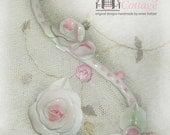 SECRET SALE  Half Price Swirly Rose Furniture Applique   Design Accent  Shabby Chic   Set of 2