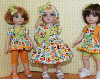 """9 Piece Mix and Match Doll Clothes set for 10"""" Ann Estelle, Patsy Tonner or other 10"""" dolls by Alisewn"""
