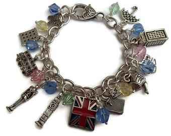 England Charm Bracelet