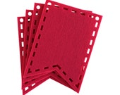Red Cutout Laser Cut Flags for Banners and Buntings DIY