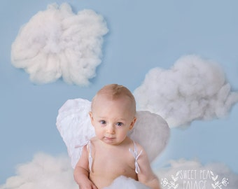 Instant Download DIGITAL BACKDROP for Photographers--  CLOUDS in the sky