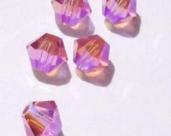 Swarovski Crystal Beads 4mm BICONE crystal beads Rose AB2X