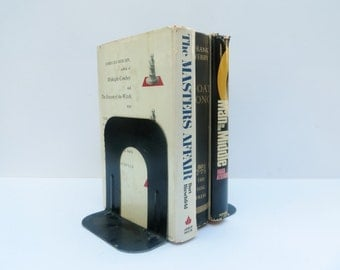 Vintage Metal Bookends Black Book Ends