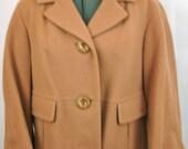 Vintage 1960's Boxy Jackie O Style Wool Jacket