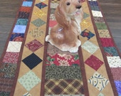 Scrappy Reversible Country Table Runner with Diamonds