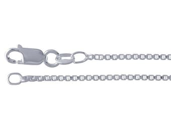 Sterling Silver Box Chain Necklace - 16, 18 or 20 Inch
