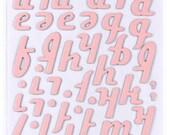 VENUS - American Crafts - Thickers - Patterned Chipboard Alphabet Stickers - Venus - Peony
