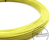 0.8mm (40 Gauge) Cotton Covered Millinery Wire (For Hat Making, Flower Making) - Yellow