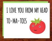 Tom-ma-toes Card - Blank Inside