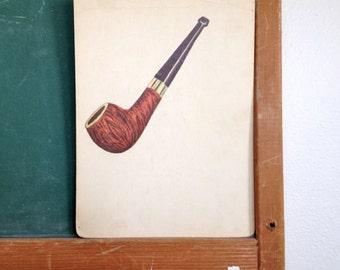Vintage School Flashcard- Pipe