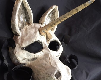 Unicorn Paper Mache Mask