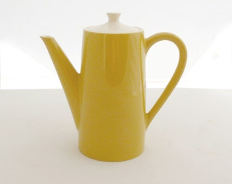 Delightful Midcentury Yellow Coffee Pot