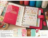 Dark Pink Color Crush Personal Planner Kit 2017 Calendar • FREE Washi Tape • Webster's Pages Planner Kit Dark Pink