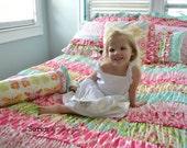 Ruffle Duvet- Twin or Full Size Bedding in Kumari Garden Fabric