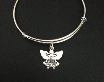 Angels Watching Over Me Bangle