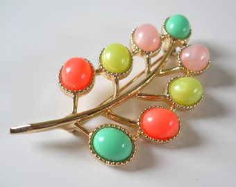 Vintage Candyland Brooch • Sarah Coventry Colorful Pin