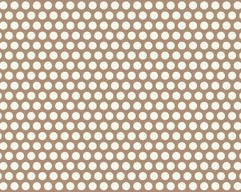 Nested Owls Aqua Mint Adorn It Fabric Collection Mocha Taupe Brown Grid Polka Dot Dots