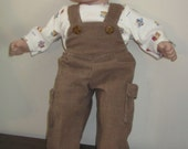 Bitty Baby Corduroy Overalls and T-Shirt