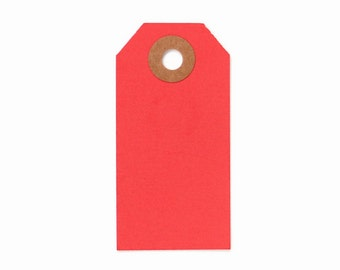 25 Red Parcel Tags, Christmas Gift Tags, Red Gift Tags, Holiday Gift Tags
