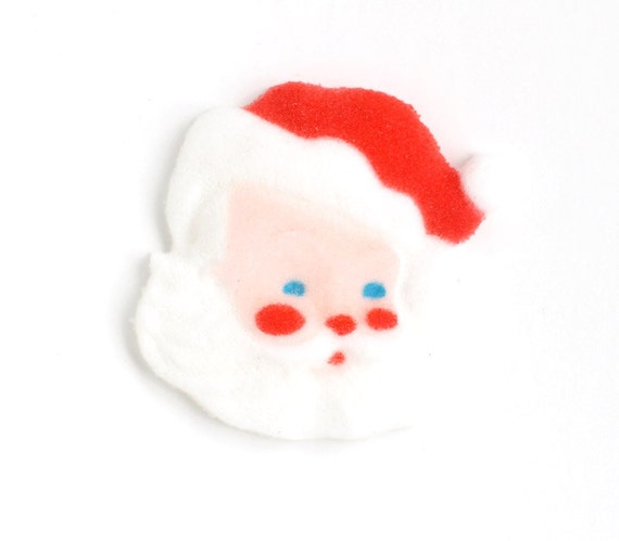 Santa Cupcake Topper, Santa Sugar Decoration, Christmas Sugar Decoration, Holiday Toppers (6)
