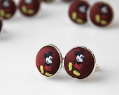 Mickey Mouse Cufflinks. Necktie Cufflinks. Disney Theme Cufflinks.