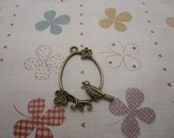 20pcs 40x31mm The Bird and Cage Antique Bronze Retro Pendant Charm For Jewelry Pendant