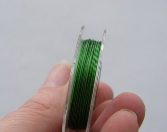 1 Roll tiger tail beading wire 10 metre green 0.38