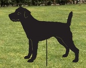 Parsons Russell Terrier Garden Stake or Wall Art / Memorial / Garden Art / Garden Decor / Rusty / Lawn / Silhouette / Metal / Outdoor