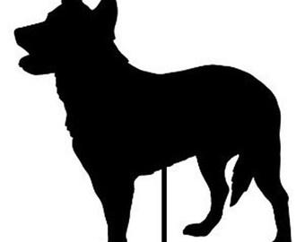Australian Cattle Dog Garden Stake or Wall Hanging / Pet / Memorial / Rustic / Yard Art / Metal / American / Rusty / Metal / Outdoor / Dog